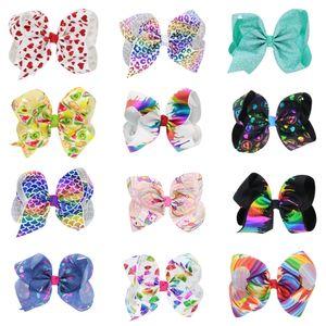 8-Zoll-Baby-Kinder Haar Bogen Boutique Ripsband Clip hairbow Großer Bowknot Windrad Haarnadel Haarschmuck Dekoration Q