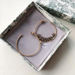 D Haus aj Ring Brief Diamant-Ohrring 925 silberne Nadel weiblicher Ohrring Zubehör Anti-Allergie