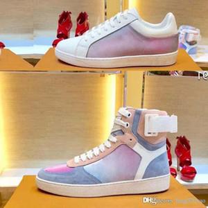 Платформа модная повседневная обувь Cfashion Обувь дизайнер обуви для скейтбординга Мужчины женщины Спортивные ботинки Кожаные кроссовки на плоской подошве Спортивная обувь