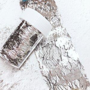 1 Caja de malla 3D Nail Láminas gasa hoja de oro del arte del clavo de transferencia Etiqueta Decoración deslizante etiquetas del arte de DIY Accesorios Diseño