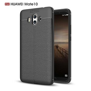 Slim Fit Ultra Thin Carbon Fiber Case for Huawei Mate 10 Leather PU Soft TPU Silicone Rubber Bumper Shockproof Phone Back Cover