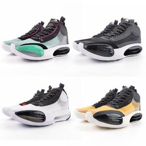 Jumpman 34 Chaussures de basket-ball Bleu Void Eclipse PE Bred Hausse Ambre Chaussures de sport Papier d'emballage Femmes Hommes Réglage du creux Bottom 40-46