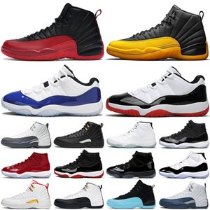 nike air jordan retro 11 12 basketball shoes Scarpe da basket da uomo 12s Influenza grigio scuro gioco Royal The Master 11s Bred Concord Space sneaker da uomo sportiva da donna