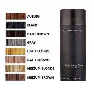 Venta caliente Top Hair Building Fibers pik fibra capilar 27,5 g Toppki adelgazamiento Corrector instantánea de la queratina del Polvo Negro spray aplicador