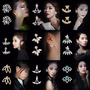 Exquisite Flower Earrings Korean Ear Jewelry Wholesale Geometry Stud Earring For Women Statement Earrings