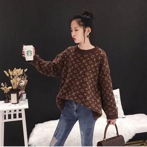 Imitação alpaca outono inverno nova camisola gola redonda pull-over para as mulheres perder blusa de mangas compridas coreano em grande tamanho M-3XL