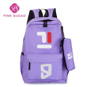 Pembe sugao 2 ADET set sırt çantası tasarımcı sırt çantası kadın sırt çantaları için kızlar için tasarımcı çanta çantalar bookbag okul tuval sırt çantası seyahat