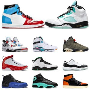 Mensbasketballschuhe 1s Fearless 5s 7s INSEL GREEN 4s Was die 9s Gym Red 11s Concord 12s Spiel Royal Sport Turnschuhe Trainer