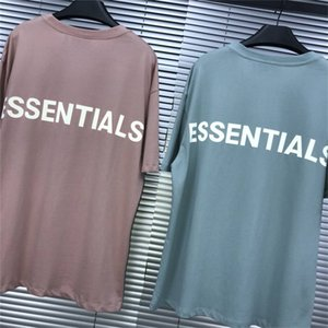 Fear Of God Reflective Essentials Boxy T-Shirt FOG Combed Cotton Mens Oversize Street Wear Casual Summer T shirts Tee