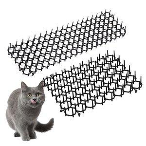 Anti-gato Thorn Pad Jardín Scat Cat Mats Anti-gato y Pest Prickle Tiras gato Repelente Pad evitar que los gatos entren