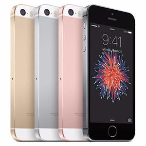 Apple iPhone original remis à neuf SE 4.0 pouces A9 iOS avec empreintes digitales Dual Core 2 Go de RAM 16/32 / 64GB ROM 12MP débloqué 4G LTE Téléphone DHL 1pcs