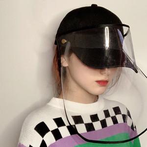 보호 얼굴 마스크 이동식 안전 얼굴 방패 안티 침 스플래쉬 모자 방풍 모래 방진 앞 유리 야구 모자 DBC BH3561