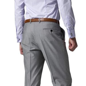 2020 Suit pants Casual Straight Trousers Suit Pants Men High Quality Fashion Men Dress Pants Classic Business