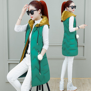 Automne et hiver en gros des modèles de mode des femmes gilets sans manches long manteau bas gilet veste taille XS-XXL