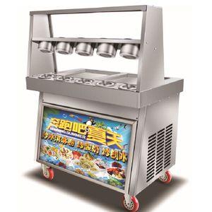 BEIJAMEI Commerciale Thai Fried Ice Cream Rolls Pan 110V elettrico 220V piatto Rotolo Ice Cream macchina 10 di serbatoi