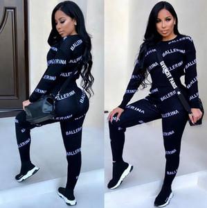 I progettisti tuta tute le donne di lusso di marca delle donne autunno Stampa Tute Jogger Suits jacket + pants Insiemi Sporting Suit A01