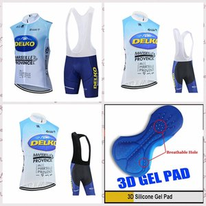 Delko team Hot sale Men cycling sleeveless jerseys vest bib shorts sets breathable Bicycle clothes Quick Dry Mtb Bike Sportswear E61849