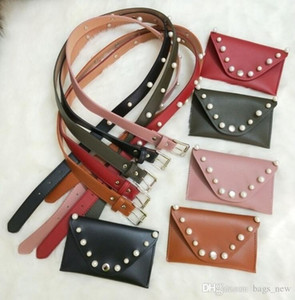 New Pearl Women's Waist Bag 2018 Fashion Leather Belt Bag Female Multipurpose Hip Bag Money Pouch Lady Fanny Pack Free shipping