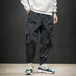 UYUK Winter New Style With Fleece Thickened Feet Casual Fashion Multi-pocket Loose Men's Trousers Joggers Streetwear
