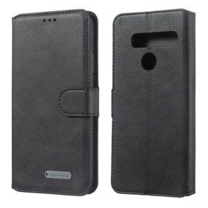 Per LG G8 / G8s / G8 Thinq fibbia di Colore Solido orizzontale di Vibrazione Custodia In Pelle Con Supporto Del Raccoglitore Slot Per Schede