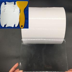 20CM * 500CM Rhino 피부 보호 필름 차 범퍼 두건 페인트 보호 고품질 비닐 명확한 Transparence 필름 반대로 찰상