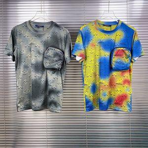 Luxu plataforma diseñador de moda y la comodidad del aire de la manga de la camiseta de los hombres GUC estrella de gama alta 2020 Nueva verano SP031 policromada blanco y negro