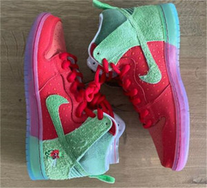 2020 SB Dunk SB High Strawberry Cough Cough Release Info Skateboarding Shoes Men Women Sports basketball casual Shoes