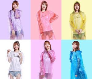 Fashion One-time Raincoat Hot Disposable PE Raincoats Disposable Poncho Rainwear Travel Rain Coat Rain Wear Free Shipping