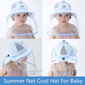 Baby Kids Face Shield Hat Outdoor Summer Sun Hat HaAnti Splash Protective Safety Full Face Shield Outdoor Travelling Foldable Bucket Hat