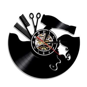 50pcs customizable 12 pulgadas Negro disco de vinilo pared del aula Decoración pared del reloj regalo de DHL