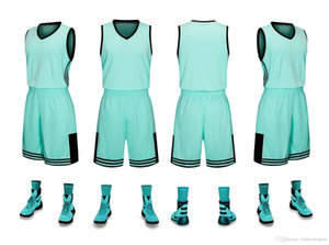 2019 New Blank Basketball jerseys printed logo Mens size S-XXL cheap price fast shipping good quality NEW TEAL NT001