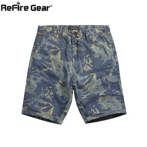 ReFire Gear Camouflage Army Tactical Short Men Summer Cotton Washable  Fight Cargo Short Quick Dry Washable Casual