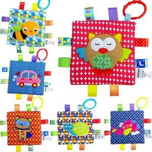 Kawaii bébé nouveau-né Apaisez Serviette Saisissant coloré animaux doux bébé Tétines Jouets bébé Jouets bébé essuie-mains Hochet