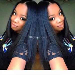 H 5 *4 .5 &#039 ;&#039 ;Glueless Silk Top Full Lace Wigss Light Yaki Brazilian Virgin Hair Full Lace Human Hair Wigss Yaki Straight Fo