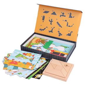 De madeira Jigsaw Crianças Early Educacional Jogo Montessori Oyuncak Brinquedos Para Meninos Meninas 47