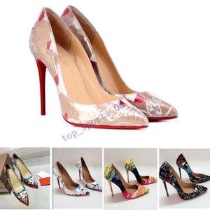 2020 Fashion Heels Rivets Luxuxentwerfer rote Unterseite Bottoms Hoher Absatz Heel-Schwarz-Silber-Hochzeit pumpt Kleid-Frauen Damenschuhe