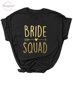 Black Fit Bachelorette Bride Party Unisex Shirt Bride Squad Arrow Heart T Shirt Feminine Slogan Women Tops Girl Tees Couple Tops