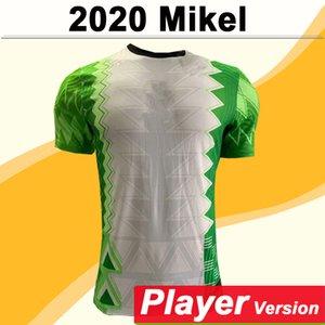 2020 Uniformes nueva camisa de Ahmed Musa MIKEL Versión del reproductor para hombre de fútbol jerseys Okechukwu Iheanacho Inicio Fútbol NIGERIA Equipo Nacional
