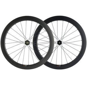 700c 55mmm Depth 25mmm Width Carbon Wheels 3k Matte Clincher Disapple Road Cycling Bikeys Axle Thru / QR Skewers