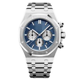 mens relógios Japão movimento VK Chronograph relógios completo 5ATM de aço inoxidável à prova d'água super-luminosa 42 milímetros montre de luxe u1 fábrica