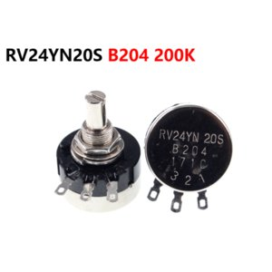 Single turn carbon film potentiometer RV24YN20S B204 200K adjustable resistor