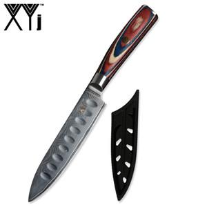 XYj VG10 Дамаск Кухонный Нож 67 Слоя Японский Нож из Дамасской Стали Цвет Деревянной Ручкой Одиночные Ножи