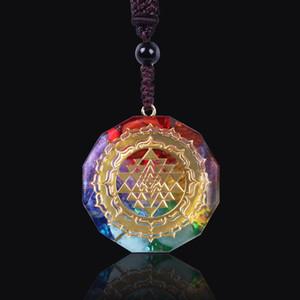 Orgonite kolye Sri Yantra kolye Kutsal Geometri Chakra Enerji Kolye Meditasyon Takı