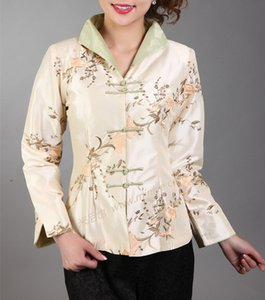 Wholesale- Hot Pink Traditional Chinese Women's Silk Satin Embroidery Jacket Coat Flowers Size S M L XL XXL XXXL Free Shipping Mny
