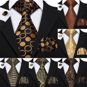 Mens Ties 100% Silk Jacquard Woven 7 Colors Solid Ties For Men Wedding Business Party 2020 8.5 cm Neck Tie Set GS-07