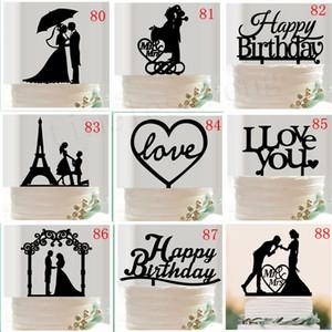 다양한 스타일 웨딩 케이크 토퍼 신부 신랑 씨 부인 웨딩 케이크 삽입 된 카드 발렌타인 데이 생일 선물