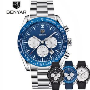 Relogio Masculino BENYAR Großhandel neue beiläufige Art und Weise der Männer Uhren Marke Male Armbanduhr wasserdichte Silikagel-Quarzuhr