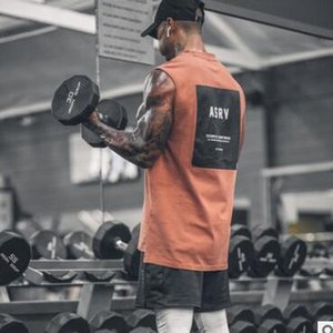 2019 Spor Salonları Egzersiz Kolsuz Gömlek Tank Top Erkek Vücut Geliştirme yuvarlak boyun Giyim Spor Erkek Sportwear Yelek Kas Erkekler Tank Tops