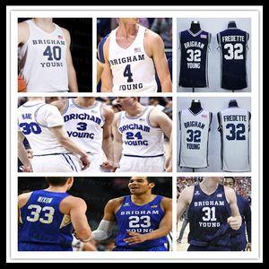 Personnalisé 2020 Brigham Jeune Cougars BYU Collège Jersey de basket-ball Yoeli Childs TJ Haws Jake Toolson Connor Harding Dalton Nixon Fredette 4XL