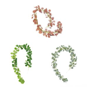 Artificial Eucalyptus Leaves Vine Fake Hanging Vine Plant Leaves Garland Wall Decoration Green Garden Decorations Patio, Lawn & Garden Home